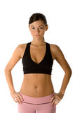 Fit woman posing. Beautiful fit young woman wearing yoga clothing Royalty Free Stock Photos