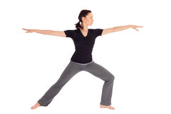 Fit Woman Practicing Yoga Exercice Stock Photo
