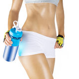 Fit woman refreshing after workout Royalty Free Stock Photos