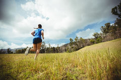 Fit woman running in bootcamp Stock Photos