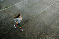 Fit woman running Royalty Free Stock Image
