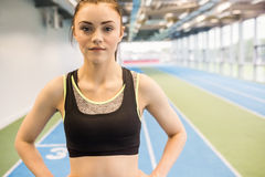 Fit woman on the running track Royalty Free Stock Photos