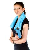 Fit woman smiling Stock Photography
