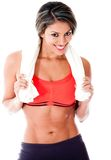 Fit woman smiling Stock Images