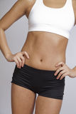 Fit woman in sports bra and shorts Royalty Free Stock Photos