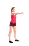 Fit woman in sportswear doing physical exercises Stock Images