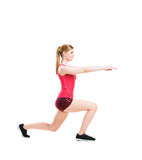 Fit woman in sportswear doing physical exercises Royalty Free Stock Photo