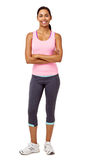 Fit Woman Standing Arms Crossed Stock Photography