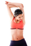 Fit woman stretching Stock Image