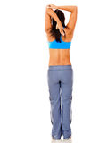 Fit woman stretching Stock Photo