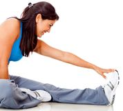 Fit woman stretching Royalty Free Stock Photography