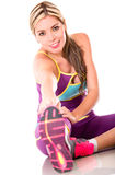 Fit woman stretching Royalty Free Stock Image
