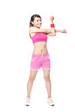 Fit woman stretching her arm to warm up Stock Image