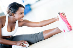 Fit woman stretching Stock Photography