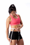 Fit Woman with Tape Measure Stock Photos