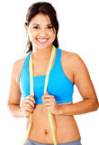 Fit woman with tape measure Stock Image