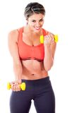 Fit woman training Royalty Free Stock Image