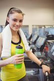 Fit woman using the treadmill Royalty Free Stock Photo