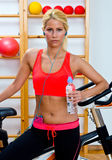 Fit woman with water bottle Stock Images