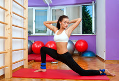 Fit woman working out Stock Images