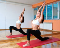Fit woman working out Stock Photography