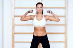 Fit woman working out Royalty Free Stock Photography