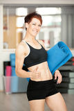 Fit woman after workout Royalty Free Stock Images