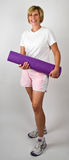 Fit Women With Polaties Mat Royalty Free Stock Images