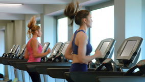 Fit women working out in gym stock video footage