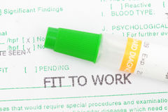 Fit for work Stock Image