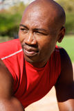 Fit young african man looking away Royalty Free Stock Images