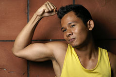 Fit young asian man Royalty Free Stock Photography