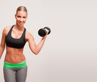 Fit young blond. Royalty Free Stock Photography