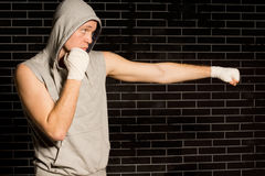 Fit young boxer working out Royalty Free Stock Photo