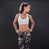 Fit young female model stock photos