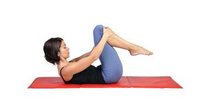 Fit young female pilates instructor Stock Images