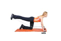Fit young female pilates instructor Stock Photos