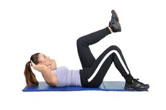 Fit young female pilates instructor Stock Photo