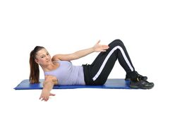 Fit young female pilates instructor Stock Photography