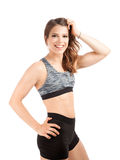 Fit young female trainer Royalty Free Stock Photos