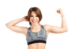 Fit young female trainer Stock Photo