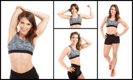Fit young female trainer Stock Photos