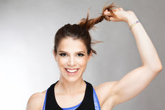 Fit young female trainer Royalty Free Stock Images