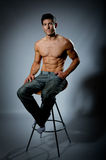 Fit young male with great healthy body. Image showing fit young male with great healthy body Stock Photography