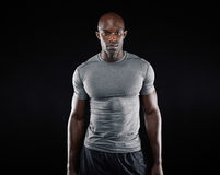 Fit young man with muscular build Royalty Free Stock Photo
