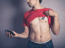 Fit young man taking a selfie Royalty Free Stock Images