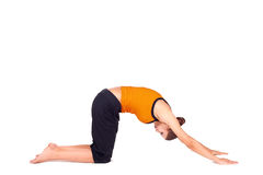 Fit Young Woman Bowing Stock Photography