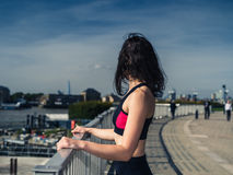 Fit young woman in city Royalty Free Stock Photo