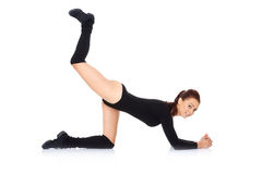 Fit young woman doing exercises Royalty Free Stock Image