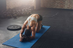 Fit young woman doing pilates workout at the gym Royalty Free Stock Photo